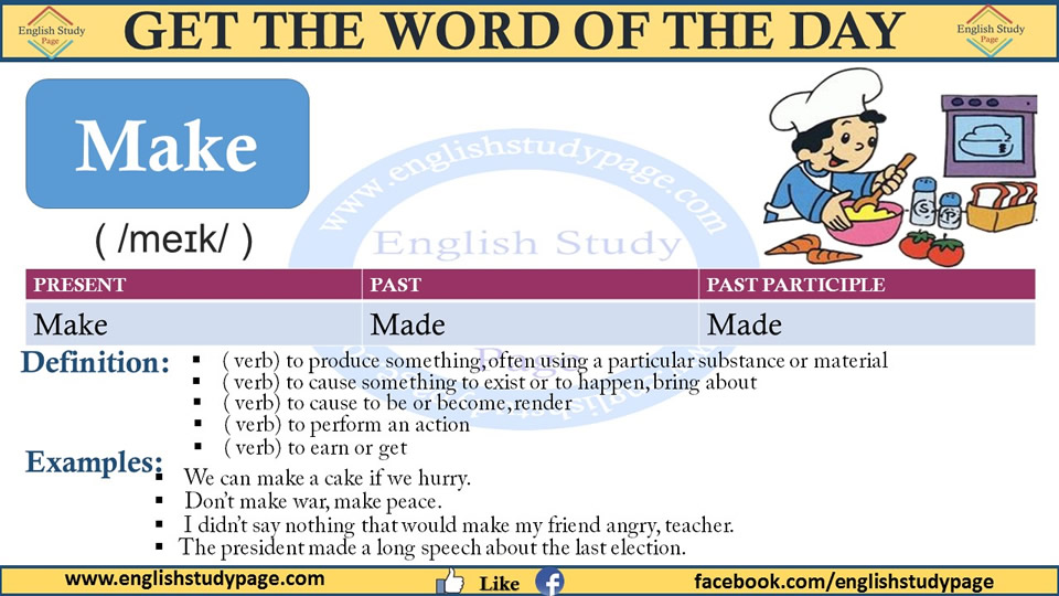 Using Make in English, Definition and Examples