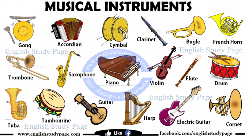 Musical Instruments In English English Study Page