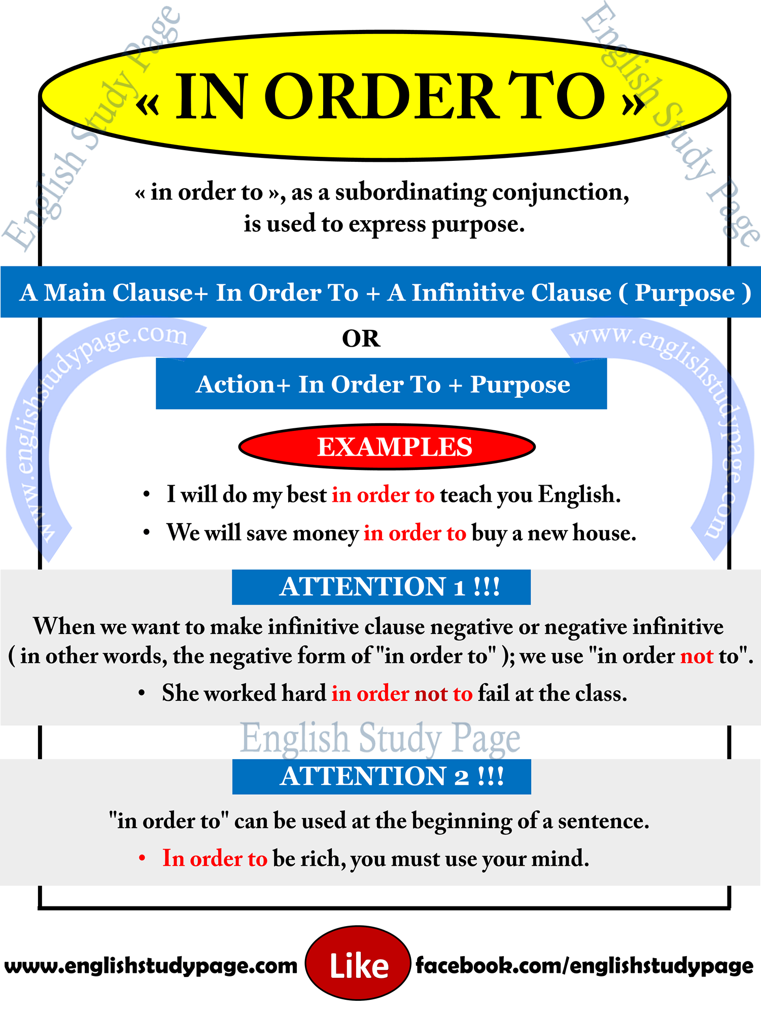 """Using """"in order to"""" in English - English Study Page"""