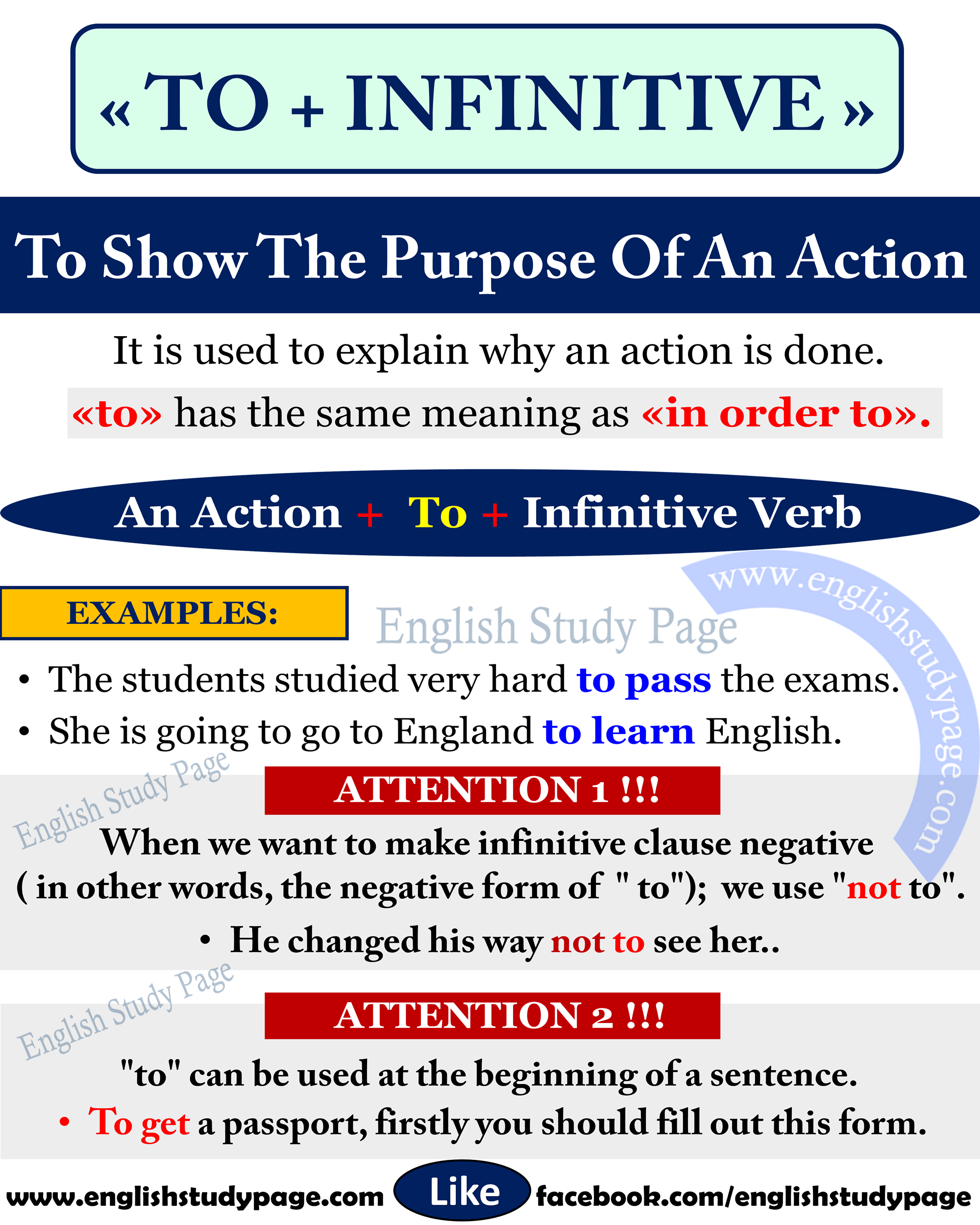 Using To Infinitive To Show The Purpose In English English