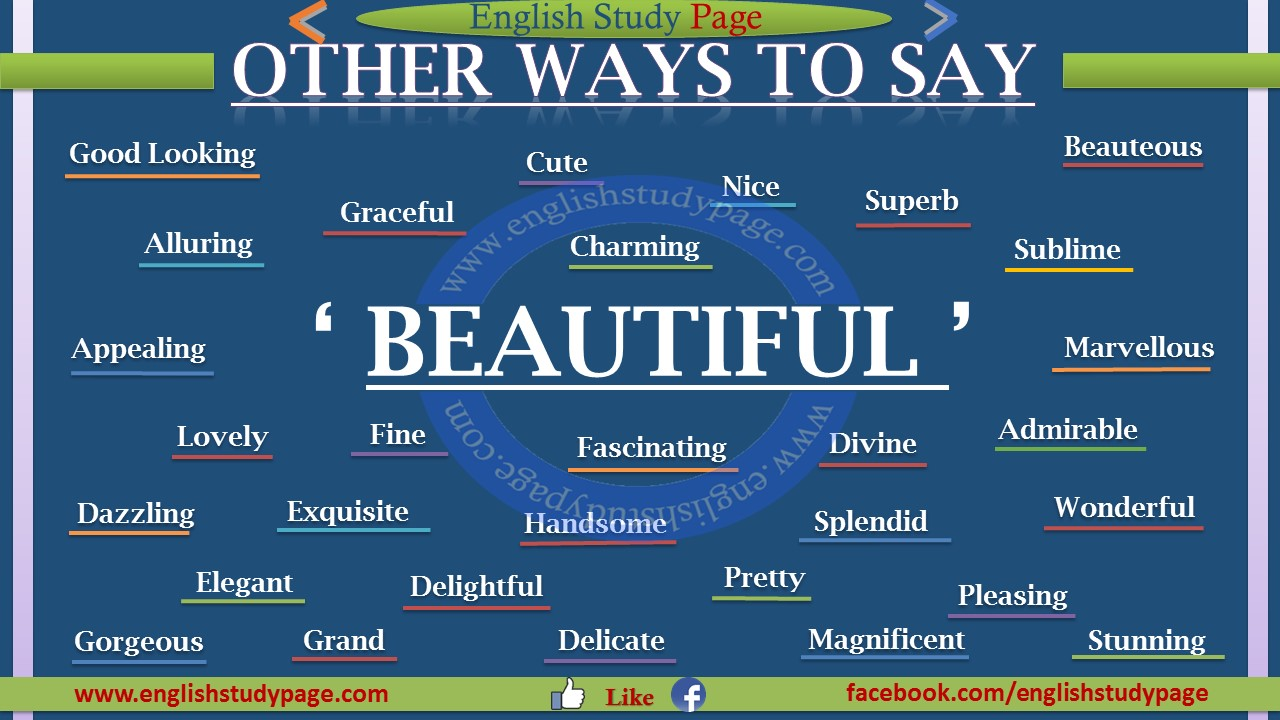 Other Ways To Say BEAUTIFUL - English Study Page