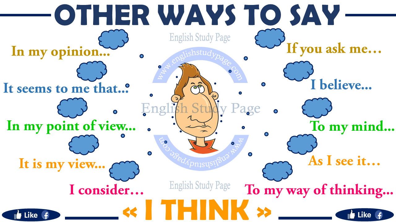 Ways to Say I THINK - English Study Page