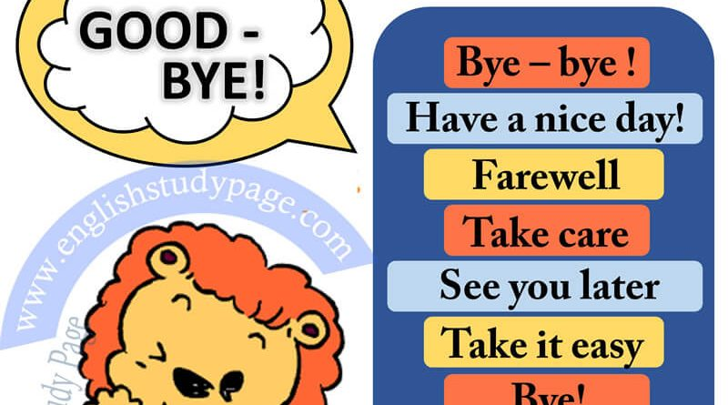 Other Ways To Say Goodbye In English Archives English Study Page