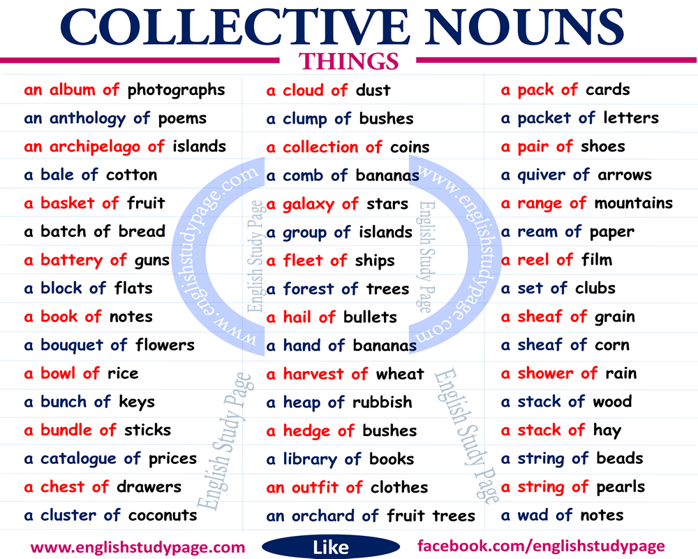 Collective Nouns Singular Or Plural English Study Page